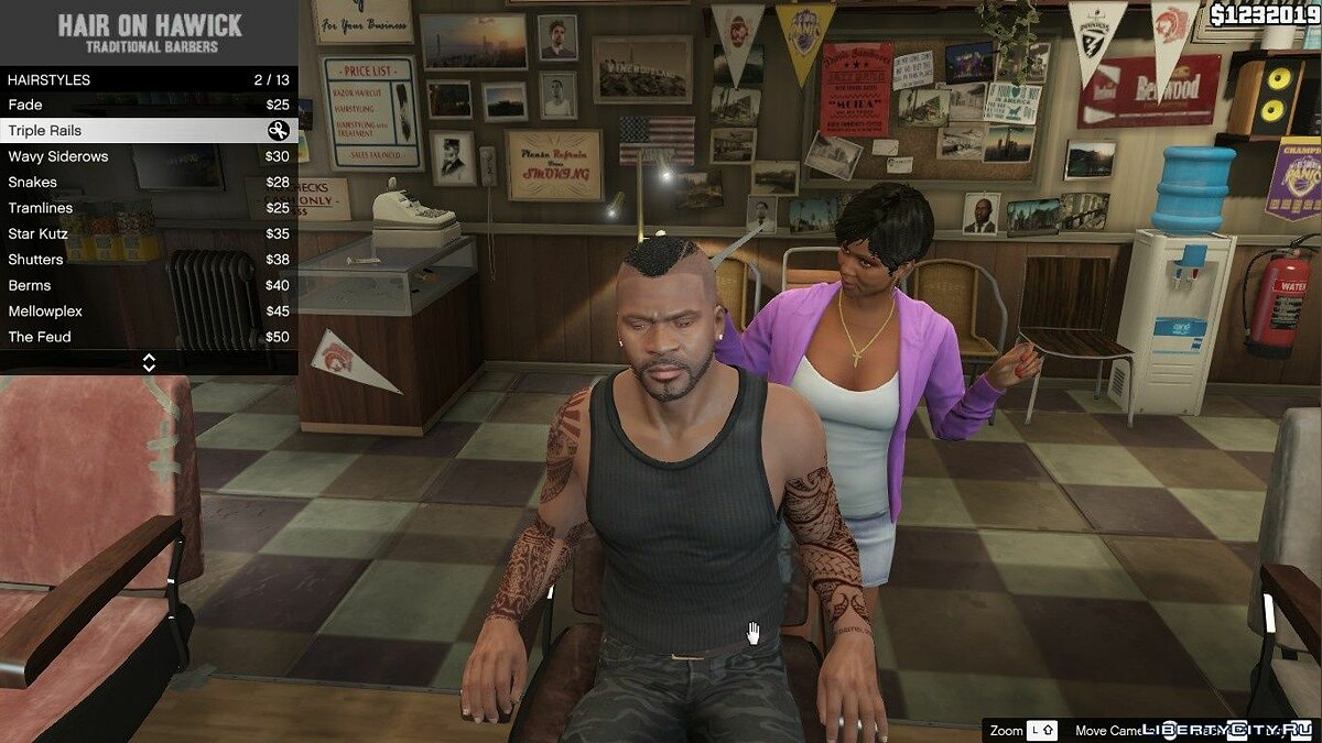 Haircut and beard New hairstyle for Franklin 1.0 for GTA 5