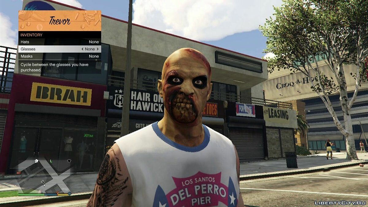 Haircut and beard Scary faces for Trevor 1.1 for GTA 5