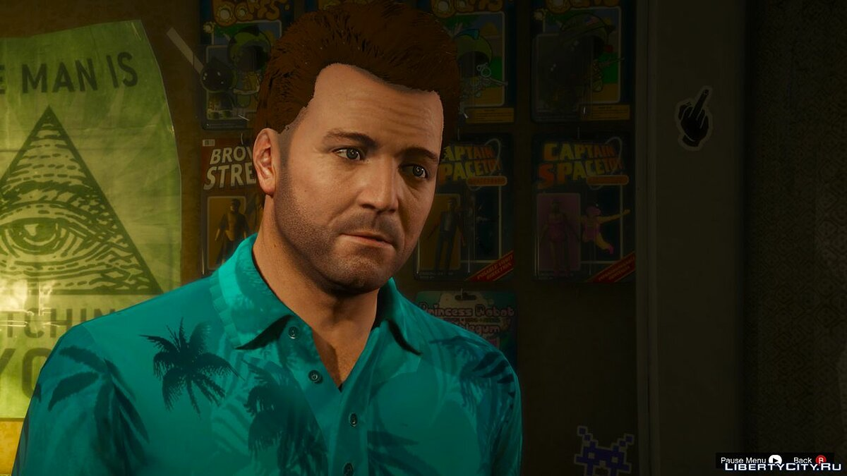 Haircut and beard Younger michael face for GTA 5
