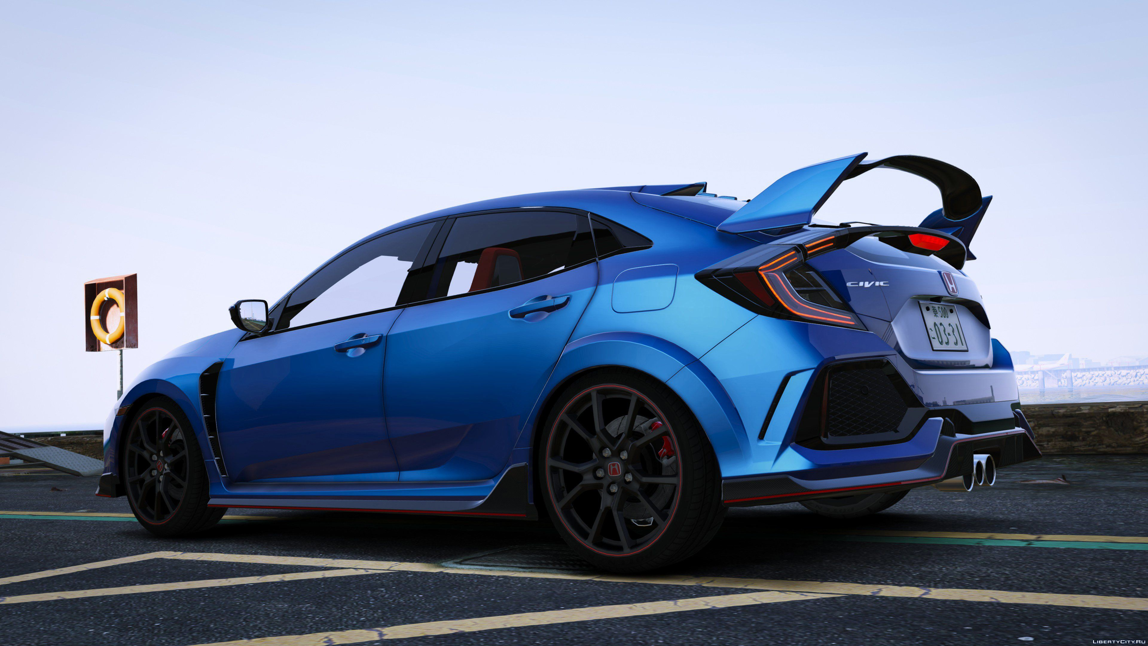 2018 honda civic type r fk8 add on rhd 1 1 for gta 5. Black Bedroom Furniture Sets. Home Design Ideas