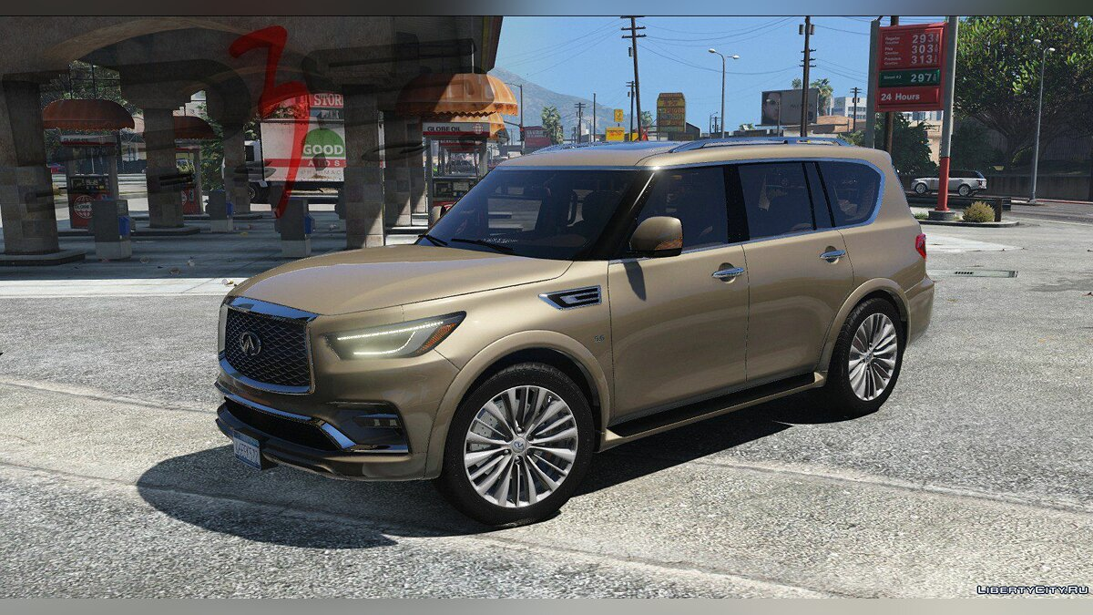 Infinity car Infiniti QX80 '2018 [Add-On | AO | Template] 1.0.2907 for GTA 5