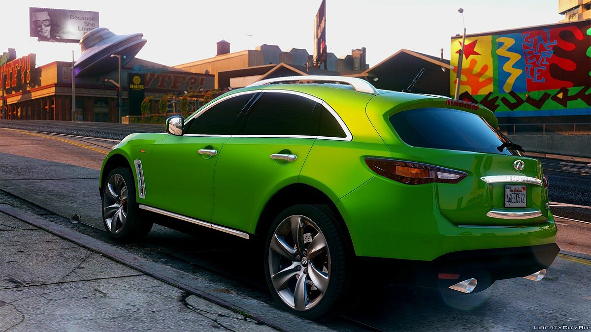 Infinity car Infiniti FX50S [Add-On / Replace | Animated] 1.1 for GTA 5
