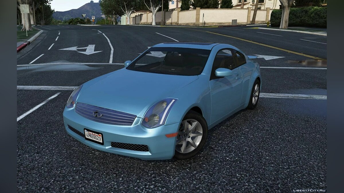 Infinity car Infiniti G35 (V35) Coupe '03 [LODs | Template | Liveries | AddOn | Tuning] for GTA 5