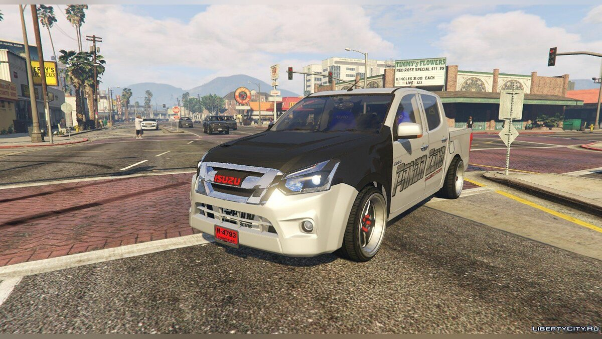 Isuzu car Isuzu D-MAX Blue Power 1.9 2016 [Add-On] for GTA 5