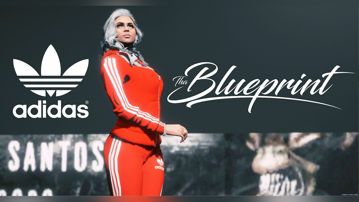 Jackets or suits Adidas costume for female character for GTA 5