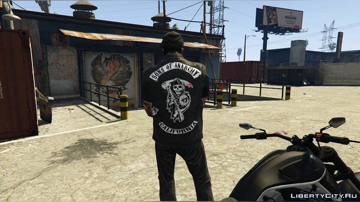 Jackets or suits Vest sons of anarchy for GTA 5