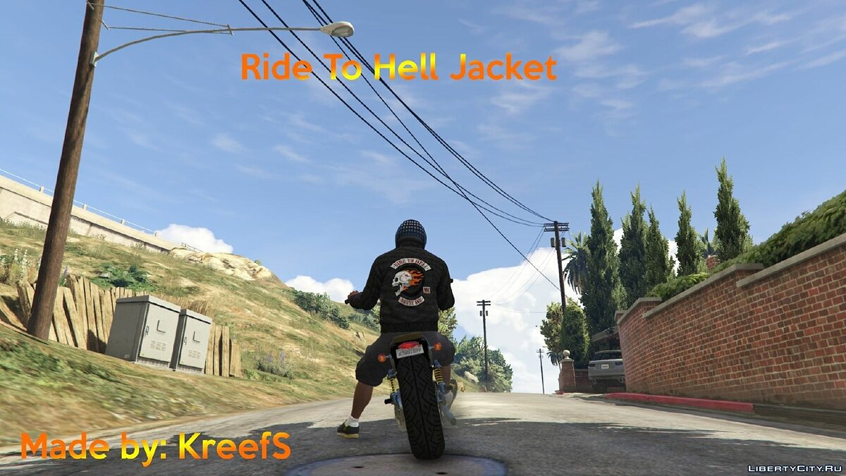 Ride To Hell Jacket (Franklin) for GTA 5 - Картинка #1