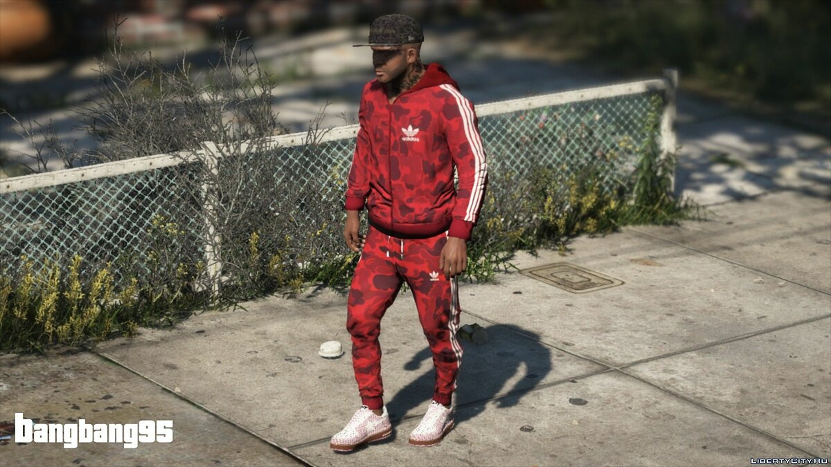 Jackets or suits Adidas Camo Suit for Franklin for GTA 5