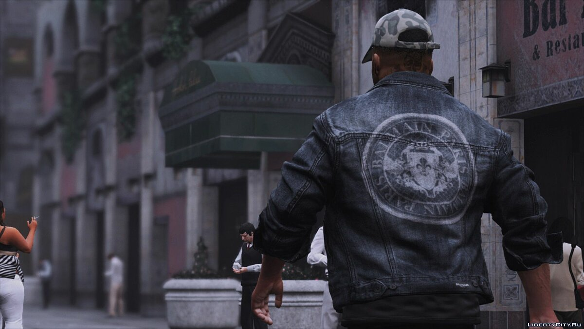 Jackets or suits Denim jacket BALMAIN for GTA 5