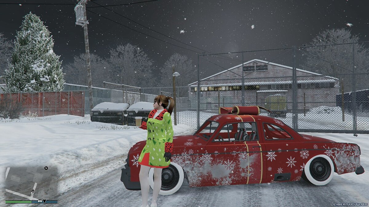 Jackets or suits Christmas cloak for May Shiranui for GTA 5