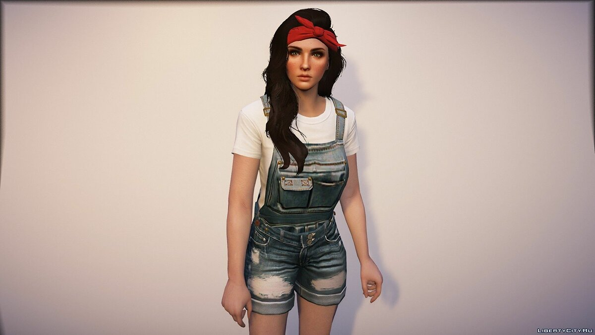 Jackets or suits Custom Overalls for MP Female 0.9 - Jeans Overalls for GTA 5