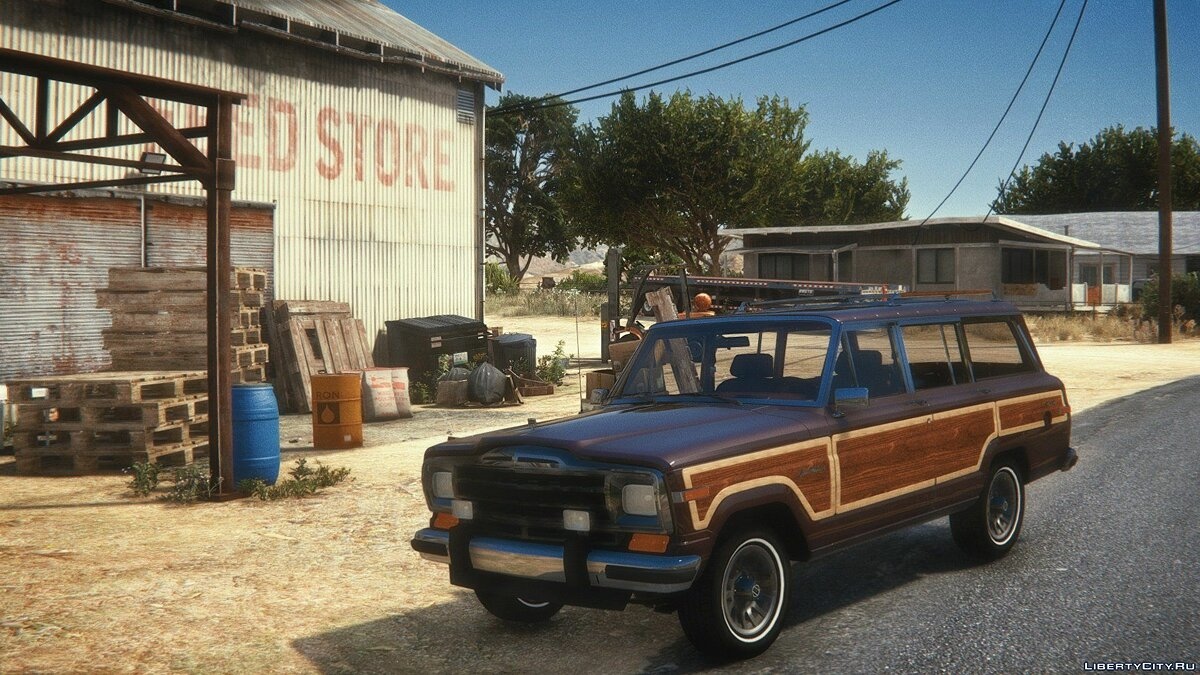 Jeep car 1991 Jeep Grand Wagoneer [Add-On | LODs] for GTA 5