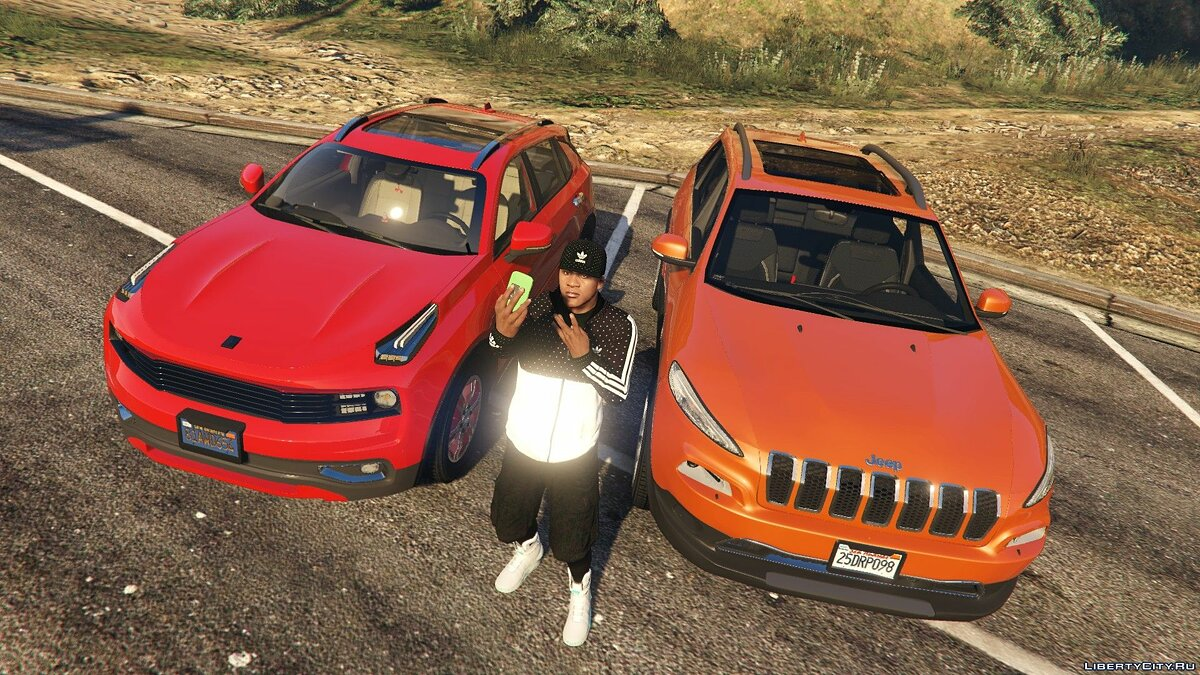 Jeep car Jeep Cherokee 2017 [Add-On / OIV | Template | Sunroof] 3.0 for GTA 5
