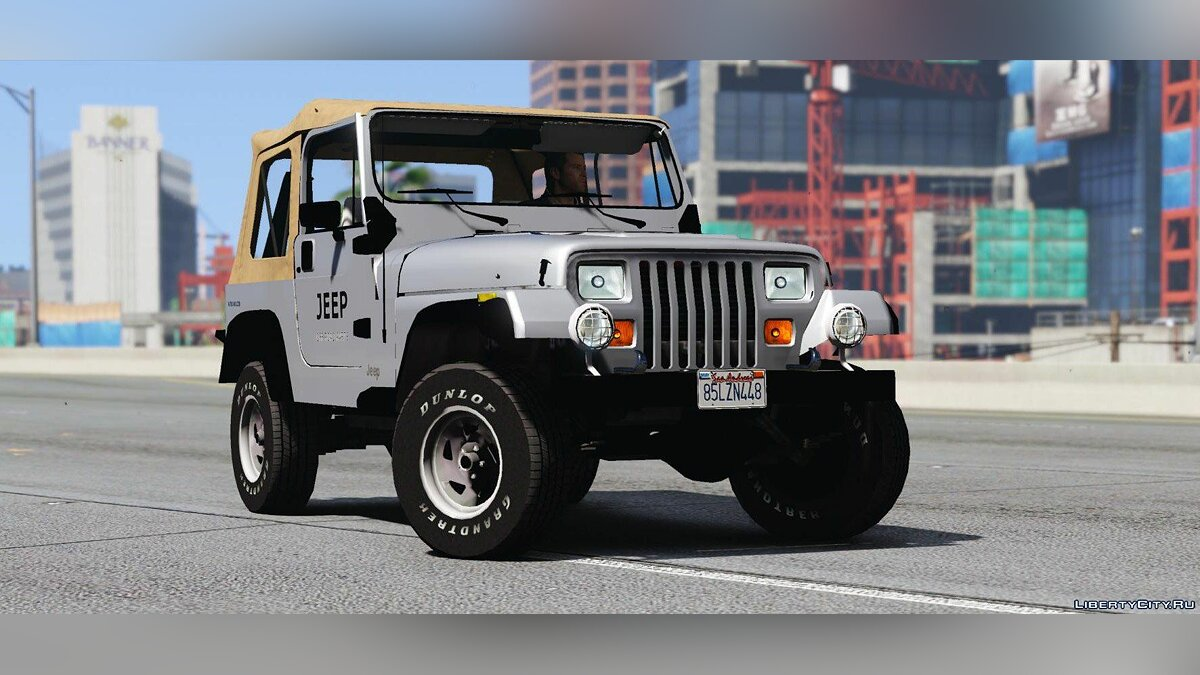 Jeep car Jeep Wrangler 1986 [Add-On | Replace | Livery | Extras | Template] 1.5 for GTA 5