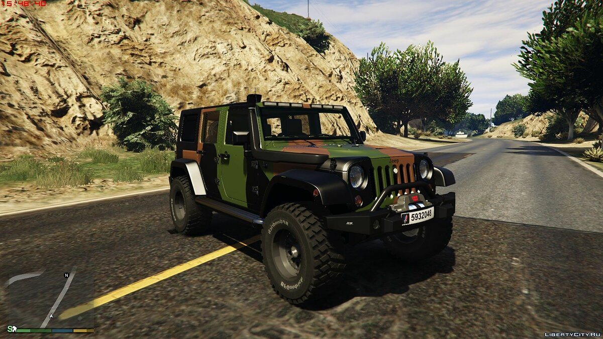 Jeep car Jeep Wrangler 2014 for GTA 5
