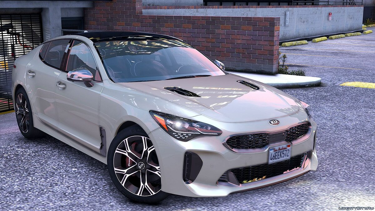 Kia car 2018 Kia Stinger GT [Add-On (OIV) / Replace / Tuning / Analog-Digital Dials / Animated / Template] v1.2 for GTA 5