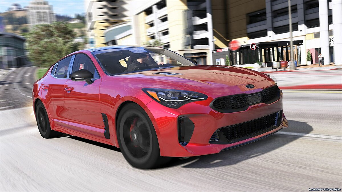 Kia car 2018 Kia Stinger GT [Add-On (OIV) / Replace / Analog-Digital Dials / Animated / Template] 1.0 for GTA 5