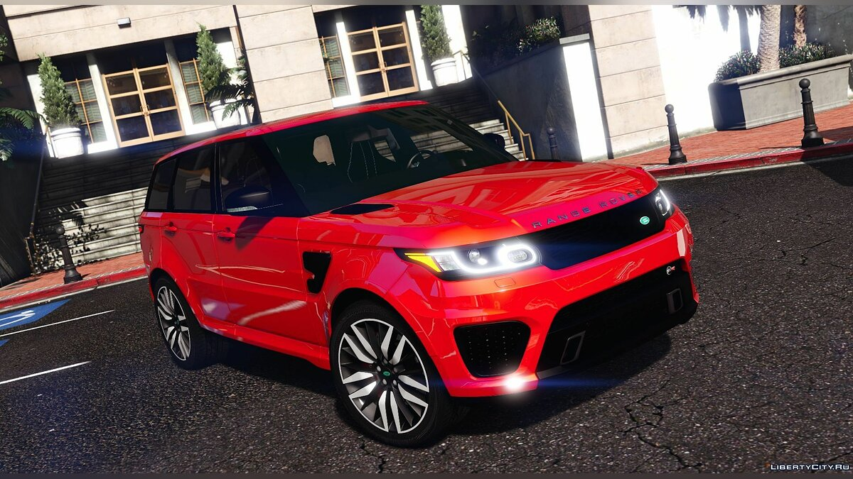 Land Rover car Range Rover Sport SVR 2016 [Animated / Templated / Add-On] 3.2 for GTA 5