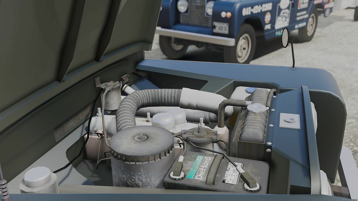 Land Rover car 1971 Land Rover Series II Model 109A HQ [Add-On] [Template / Liveries] [Dirt Mapping] for GTA 5