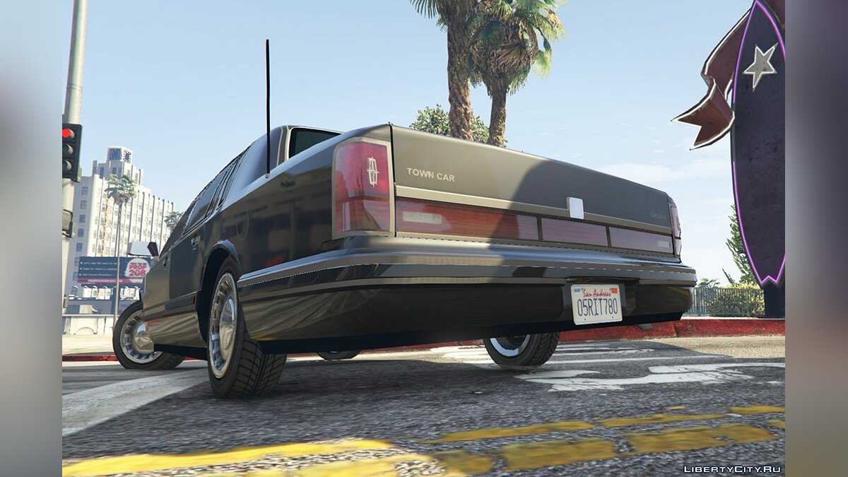 Lincoln car 1991 Lincoln TownCar 1.1 for GTA 5