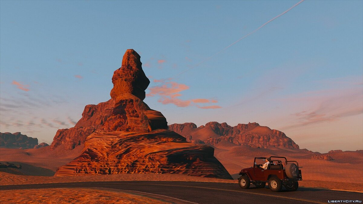 New islands Red Dead Desert [Add-On] for GTA 5