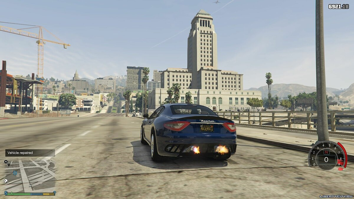 Maserati car Maserati GranTurismo MC Stradale 2014 1.0 - Model for weak PCs for GTA 5