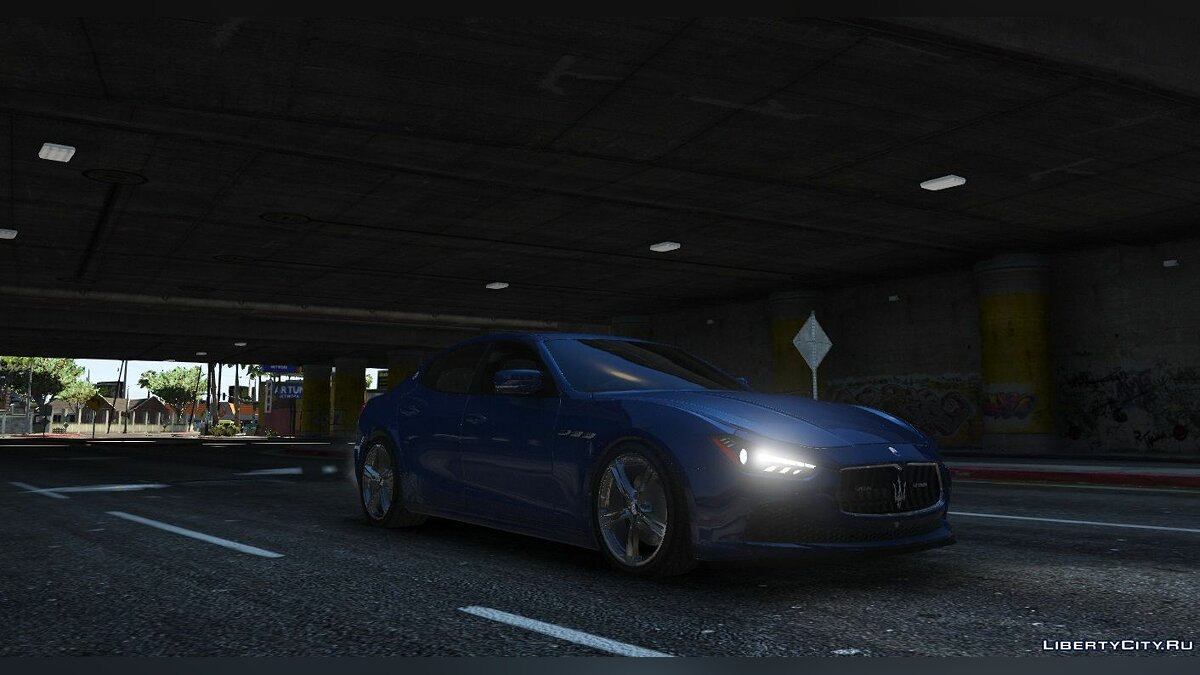 Maserati car Maserati Ghibli S Unmarked [Replace] [ELS] for GTA 5