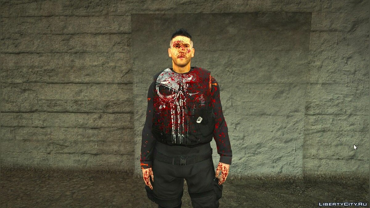New mask Bloody Retextur Punisher for GTA 5