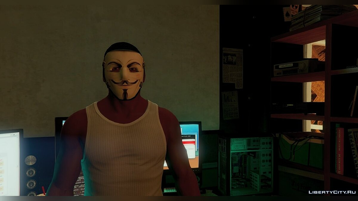 New mask Mask Anonymous 1.0 for GTA 5