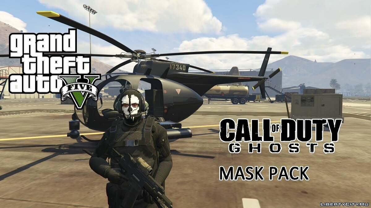 New mask Call of Duty: Ghosts Mask Pack (MP Freemode Male) for GTA 5