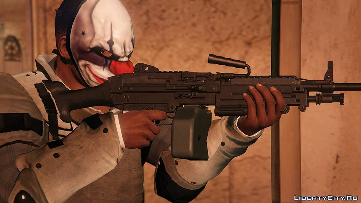New mask Mask of Cheynsa from the game PAYDAY 2 for GTA 5
