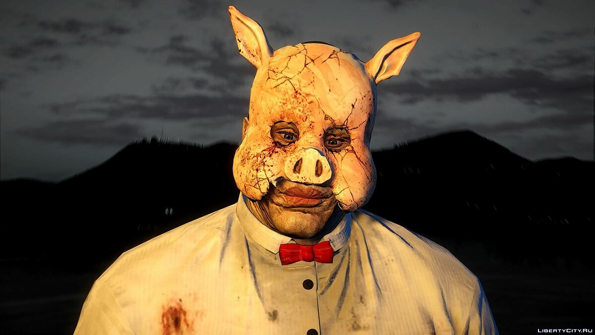 New mask Mask of Professor Pig from Batman for GTA 5