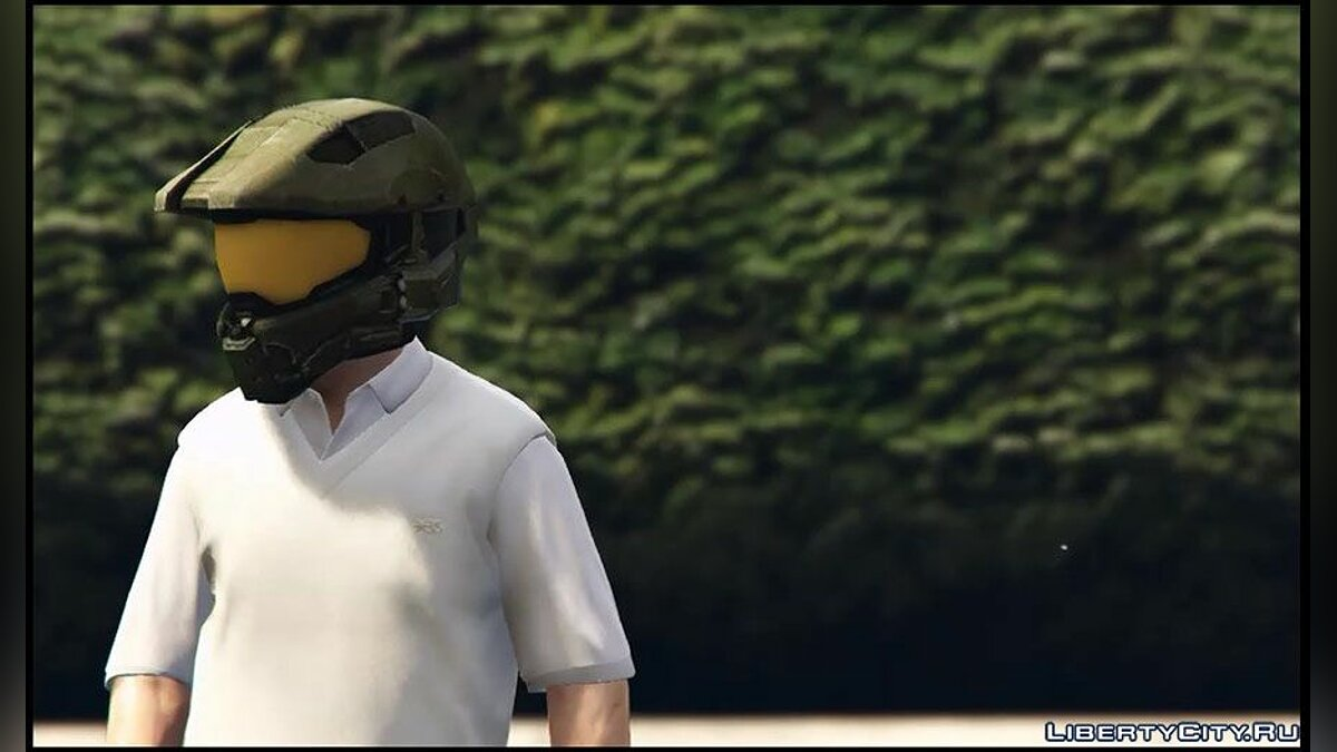 New mask Helmet Master Chief for GTA 5