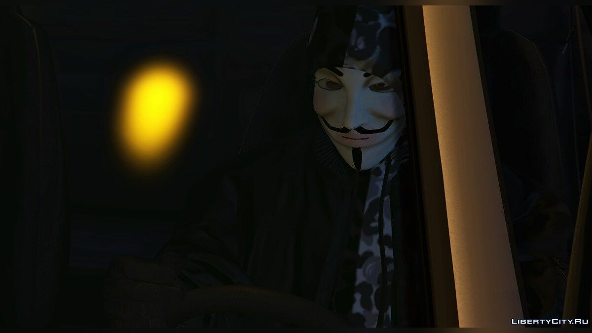 New mask Anonymus Mask for Franklin for GTA 5