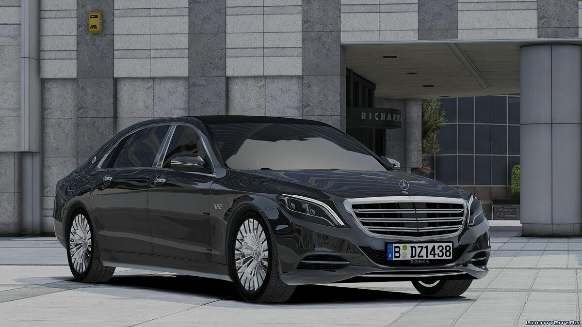 Maybach car 2017 Maybach S600L (add-on) 1.0 for GTA 5