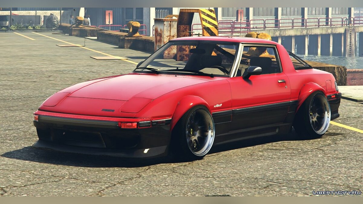 Mazda car 1984 Mazda RX-7 Stanced Version | Five-M | Replace | Add-On | 1.1 for GTA 5