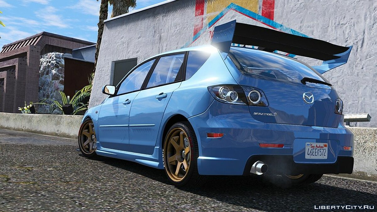 Mazda car 2009 Mazda Speed ​​3 [Add-on / Tuning / Livery / Template] version 1.0 for GTA 5