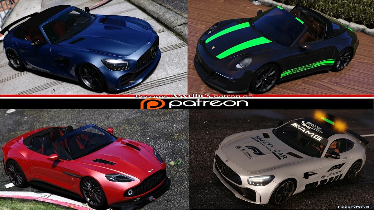 Mercedes-Benz car 2020 Mercedes-Benz AMG GT-R Roadster [Animated Roof] [Add-On   Template] 1.0 for GTA 5