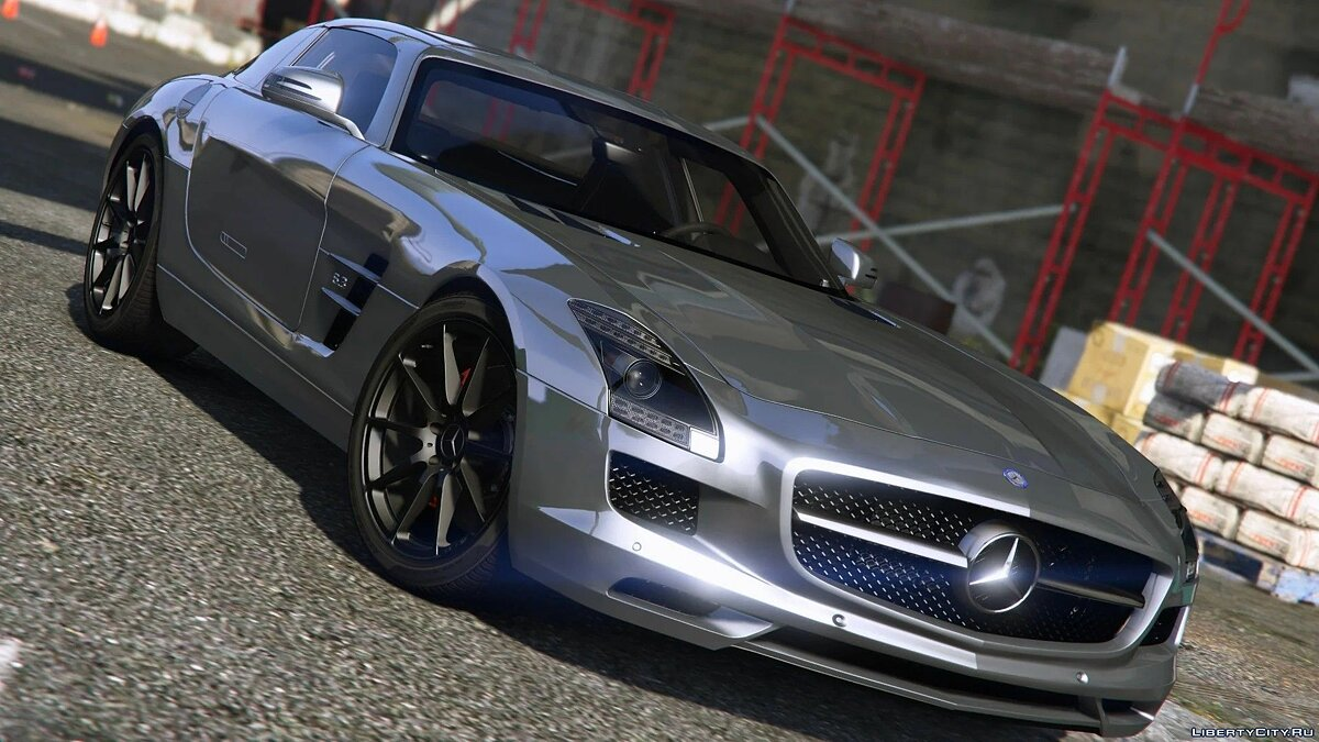 Mercedes-Benz car Mercedes-Benz SLS AMG [Add-On / Replace | Template] 3.0 for GTA 5