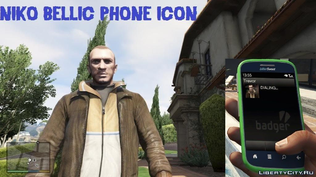 Niko Bellic Contact Picture Replaces Trevor 0 1 For Gta 5