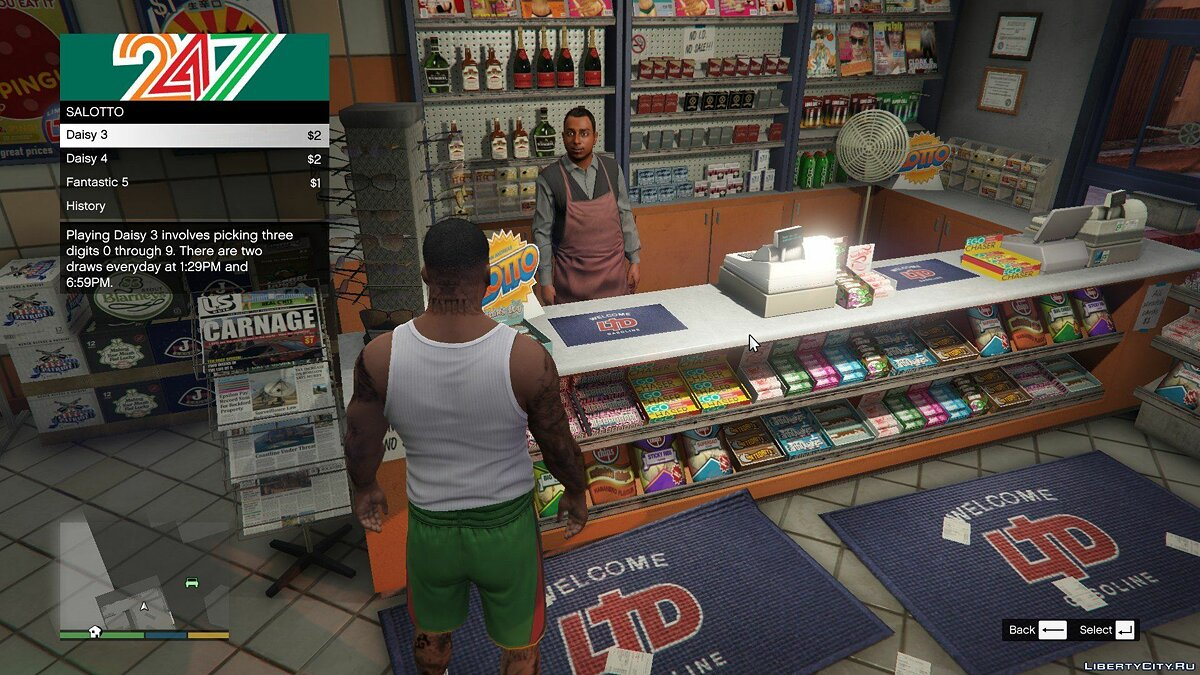 Mod San Andreas Lotto 1.4 for GTA 5