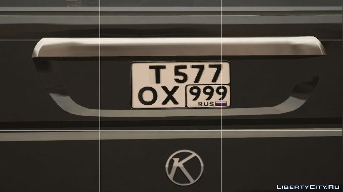 Mod Russian license plate for GTA 5
