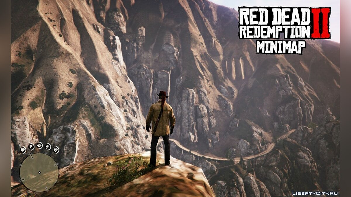Mod Red Dead Redemption 2 Minimap 1.0 - Radar from RDR 2 for GTA 5