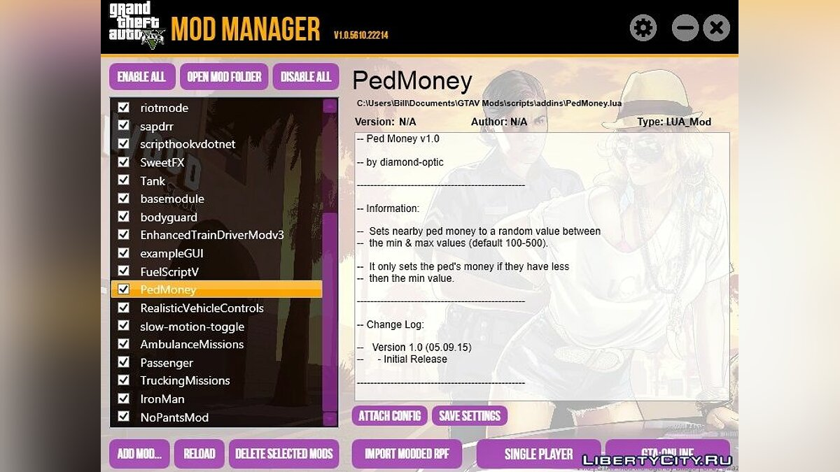 GTA V Mod Manager 1.0.5616.14897 for GTA 5 - Картинка #1