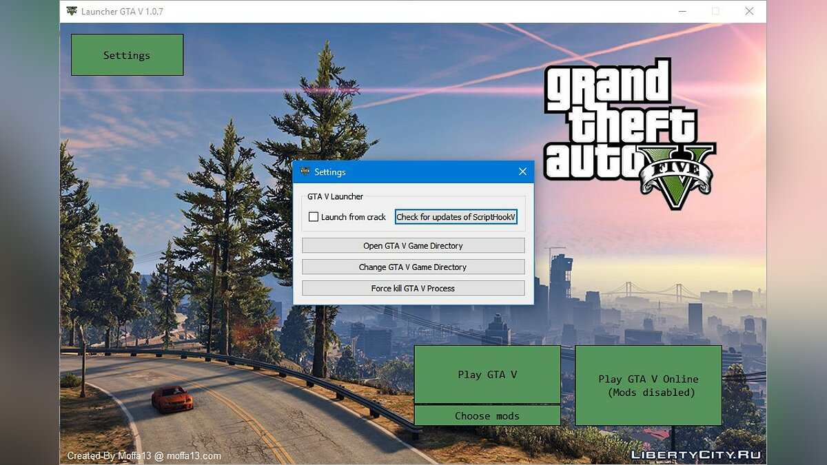 Program GTA V Launcher 1.0.7 for GTA 5