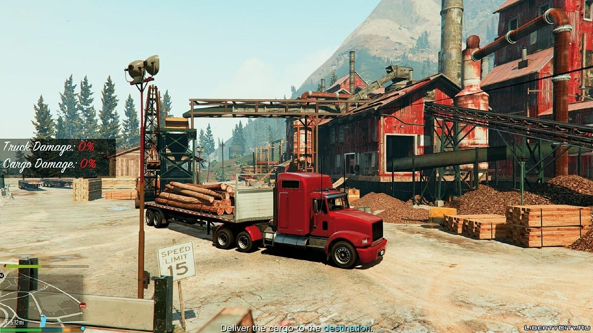 "New missions for the fashion ""Trucker Missions"" for GTA 5 - screenshot #3"
