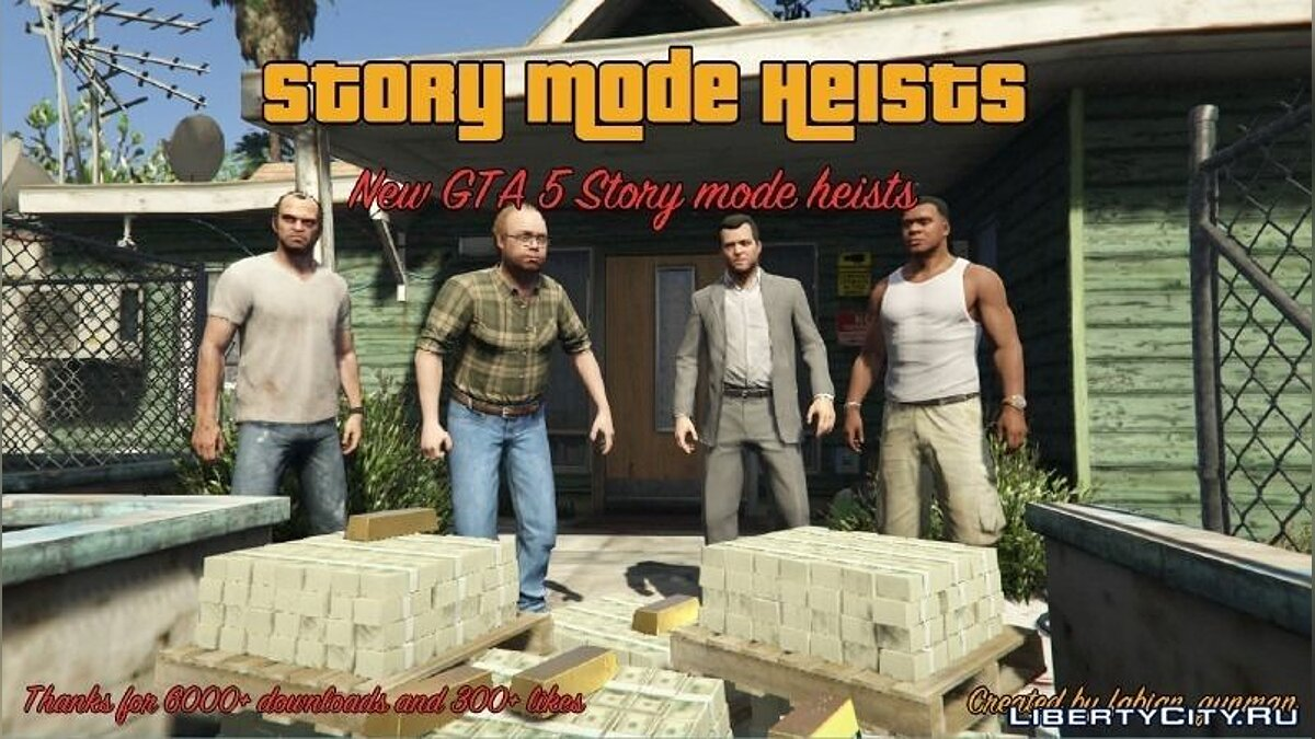 New mission Story Mode Heists [.NET] 0.8.0 for GTA 5