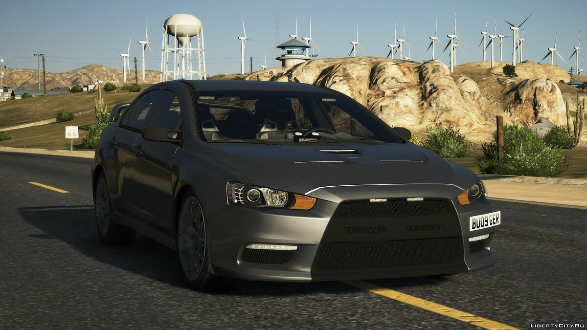 Mitsubishi car Mitsubishi Evo X Unmarked Police Car for GTA 5
