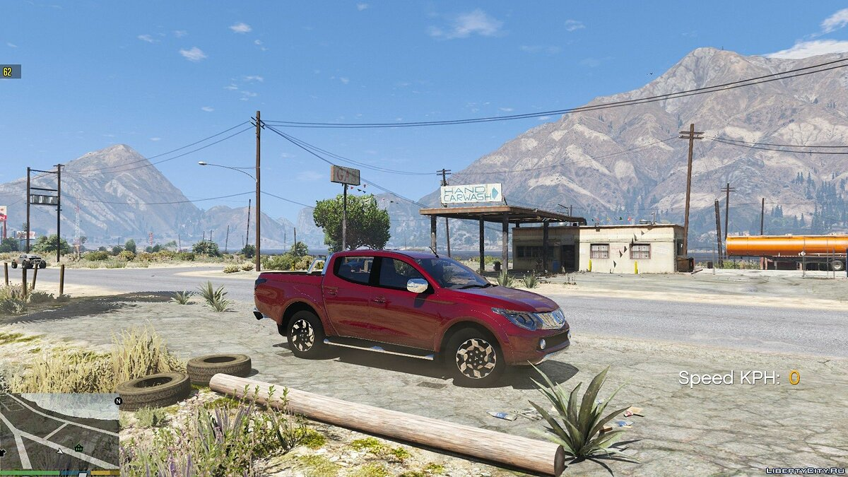 Mitsubishi car Mitsubishi L200 [Add-On] for GTA 5