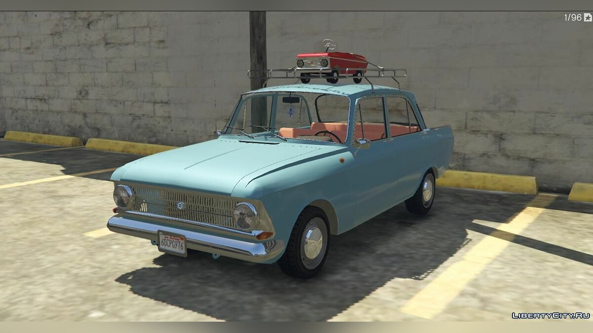 Moskvitch car IZh Moskvich-412 + Tuning for GTA 5